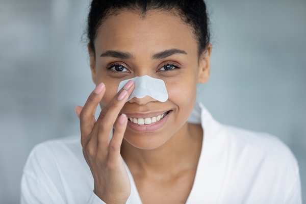 Pore strips are effective for clogged pores on nose.