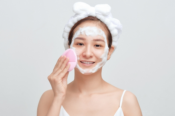 Use a cleanser before you moisturize your face.