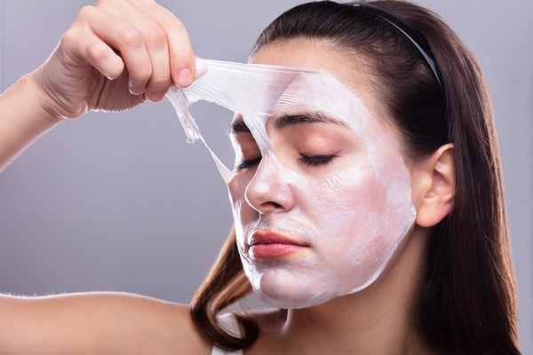 Chemical peel treatment for wrinkles on face