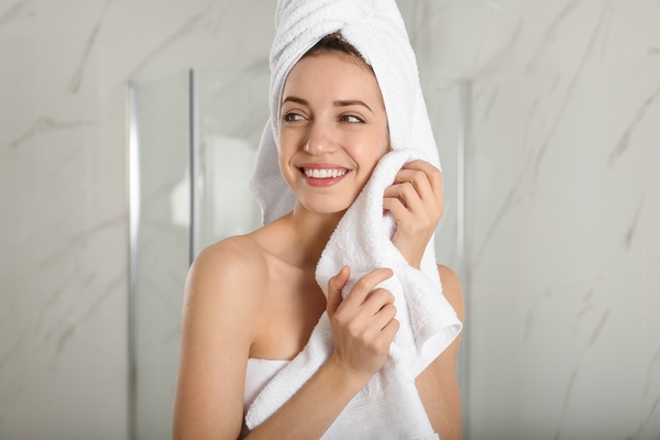 Dry your skin gently after a shower