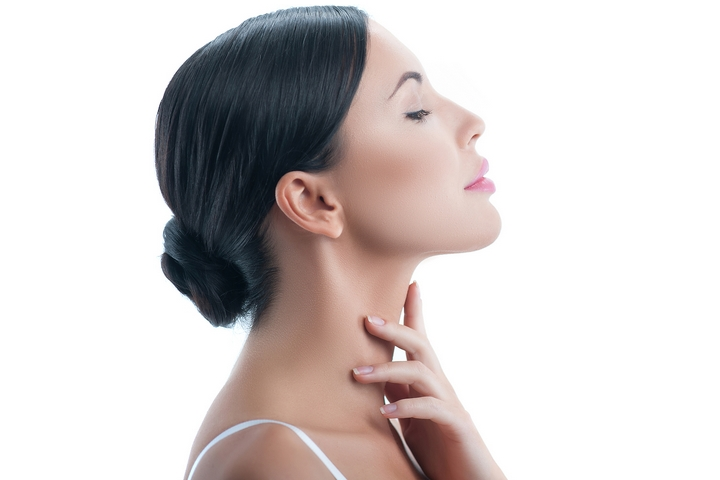 2. Get rid of neck fat with mesotherapy