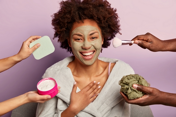 Use various beauty products to improve skin texture.