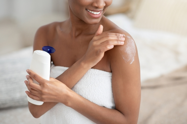 Moisturize your extremely dry skin after a shower